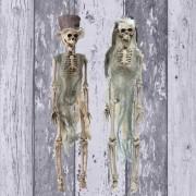 Dekoration: Halloween Brautpaar Skelett